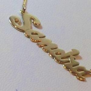 Nombre Y Cadena De Oro 18 K