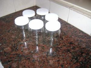 Frascos de vidrio con tapa,yogurt dahi $ 10c/ uno