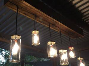 Lámpara colgante rústica