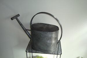 Regadera de zinc decorada posot class for Manijas de regadera