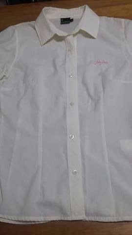 Camisa John Deere talle L entallada manga corta