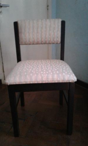 3 sillas de madera buenos aires posot class for Sillas madera tapizadas