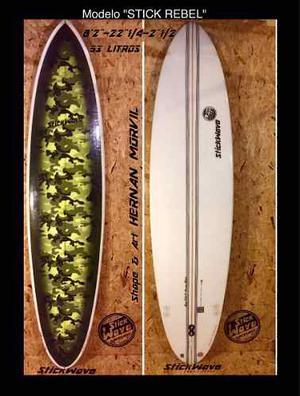 Tabla De Surf - Funboard 8'2 Stickwave Surfboards Nuevo