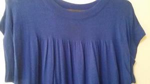 Vestidito tejido fino azul francia talle 4 Yagmour