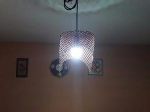 lampara de colgar tipo fabrica metal estampado
