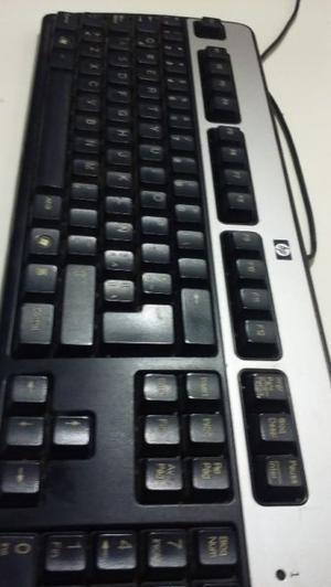 teclado hp negro y plateado