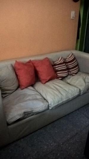 Excelente sillón de 3 cuerpos, moderno, color natural