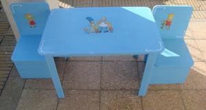Mesa infantil mas 2 sillas. Liquidacion!!!!