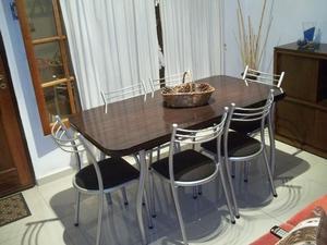 Mesa y 6 sillas reforzadas !!! Envío gratis !!