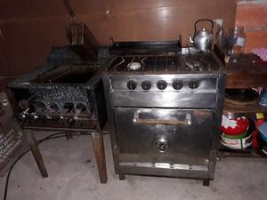 cocina industrial y freidora