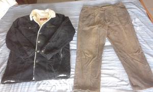 Conjunto Campera y Pantalón de Corderoy