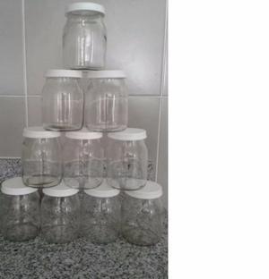 Lote 50 Frascos De Vidrio Yogurt Dahi Con Tapa