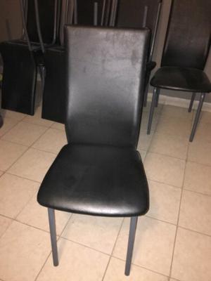 Vendo sillas de ecocuero impecables