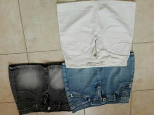 Minis de jeans talle 36 un uso