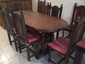 Vendo mesa algarrobo c/8 sillas y otros muebles