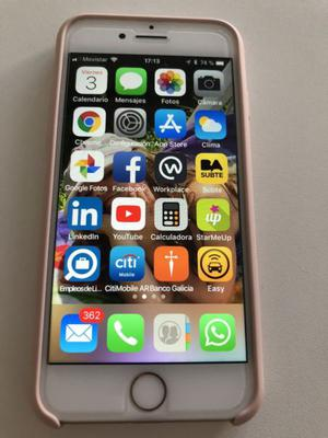 iPhone 7 de 32 gb dorado completo en caja