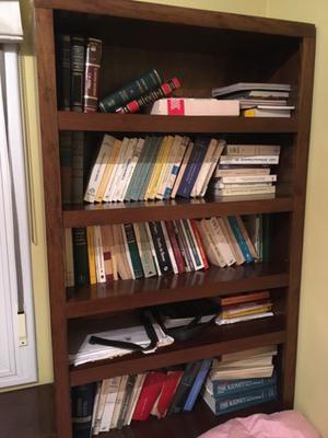 Biblioteca de madera de buena calidad