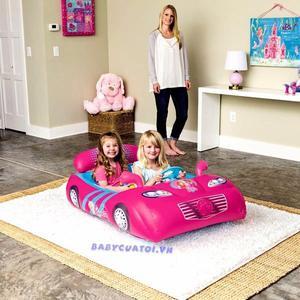 Auto Pelotero Inflable Hot Wheels Y Barbie Para Niños