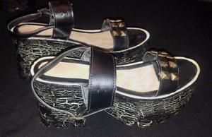 Zapatos Sandalias De Mujer Con Taco Plataforma Craqueladas