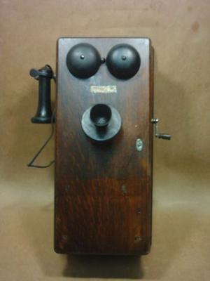 Antiguo Telefono Western Electric Con Caja De Roble