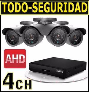KIT DE 4 CAMARAS SEGURIDAD HD, DVR HDMI, FUENTE, SPLITER,