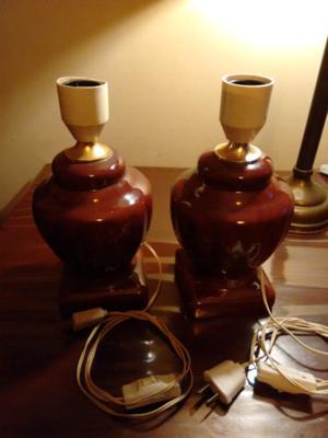Lamparas Veladores de ceramica esmaltada