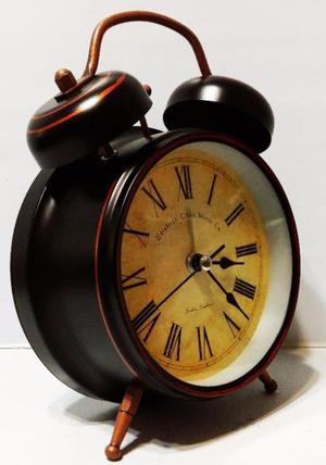 Reloj Despertador Retro Vintage Doble Campana Con Luz
