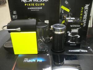 cafetera nespresso pixie con aeroccino 3