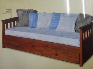 Divan cama de madera guatambu c colchon y posot class - Cama tipo divan ...