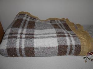 Frazada de lana escocesa de 1 plaza Excelente calidad!