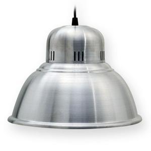 Lampara Colgante Campana Aluminio Galponera 28cm Diametro