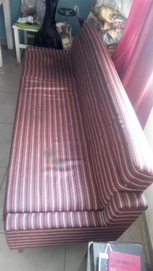 Sofa cama sillon de tres cuerpos con cajones