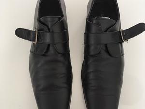 Zapatos De Vestir De Cuero Negros Hombre Talle 43