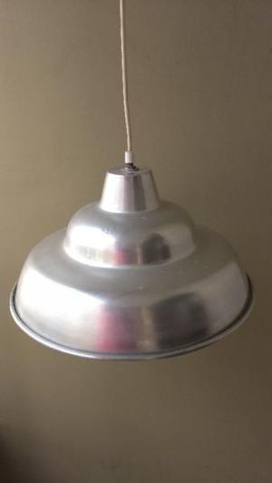 dos lamparas colgantes de aluminio