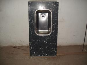 mesada con bacha de acero inoxidable 062 x 120