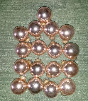 Bolas para el árbol de navidad doradas 4 cm (17 unidades).