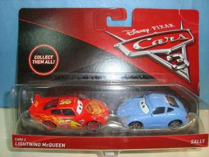 Cars 3 Pack X 2 Rayo Mc Queen + Sally Blister Cerrado Mattel