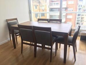 Juego de comedor Peteribí, mesa y 6 sillas CASI SIN USO