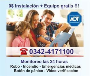 Promoción exclusiva ADT 0$ Instalación + Equipo Gratis !!!