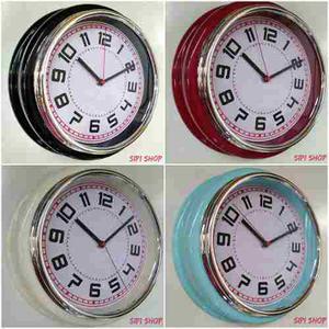 Reloj De Pared Retro Vintage Redondo A Pila 30 Cm Sipi Shop