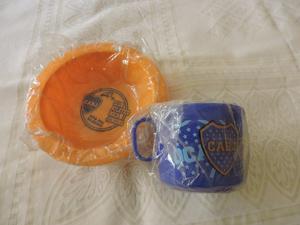 Set de plato y taza de Boca Juniors