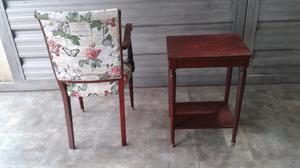 Vendo juego de 2 sillones y mesa antiguos