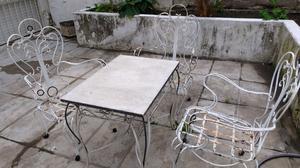 Vendo hermoso porton antiguo artesanal hierro posot class for Juego de jardin de hierro antiguo