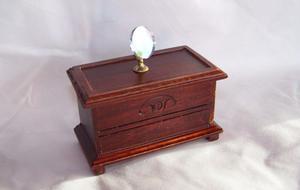 Espejo de tocador miniatura, escala 1:12, casa de muñecas