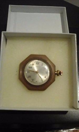 reloj de bolsillo antiguo octogonal de bronce test