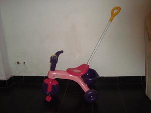 triciclo color rosa rondi