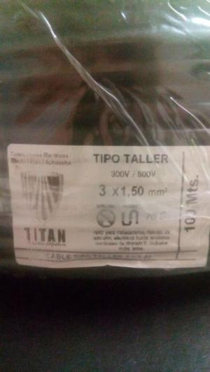 CABLE ELECTRICO, TIPO TALLER 3 X 1.5MM