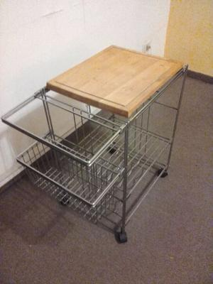 Mesa carro auxiliar de cocina estructura posot class for Mesa auxiliar de cocina con ruedas