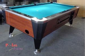 Mesa de Pool Profesional Bisonte. Pizarra Original.