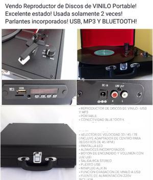 Vendo Reproductor de Discos de Vinilo estilo Vintage